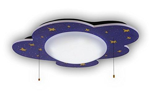 Niermann Standby 665 A++, Hcl Deckenleuchte Sternenhimmel, Holz, 22 watts, Multi Color, 74 x 57 x 10 - Ich Licht Echo