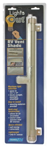 Camco 42913 Roll-Lights Out Vent Shade (creme) -
