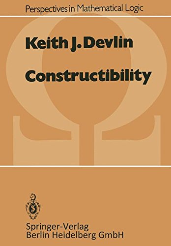 Constructibility (Perspectives in Mathematical Logic)
