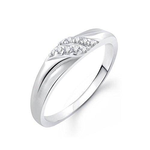 Meenaz Love Valentine Gifts Fancy Ring Party Wear In American Diamond Cz Ring For Girls & Women FR400  available at amazon for Rs.99