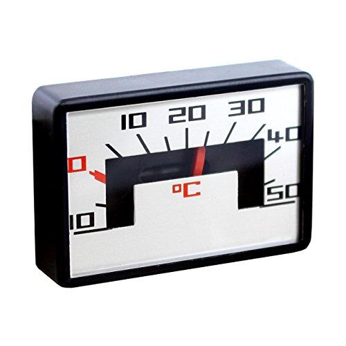 Lantelme 2305 Bimetall Analog Auto Thermometer mit Magnet Kunststoff schwarz/weiss