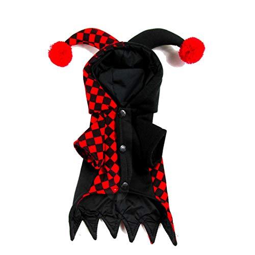 Lustige Kleidung Haustier Hund Kleidung Stereoskopische Clown Party Kostüm für Katzen Cosplay Halloween rot (größe : XL)