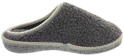MIK Funshopping - Pantofole Donna Grigio scuro