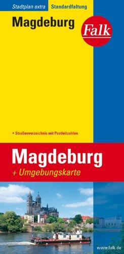 Falk Stadtplan Extra Standardfaltung Magdeburg