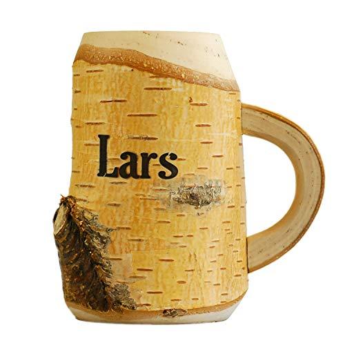 Holz Bierkrug mit Gravur 0,4l - Geburtstagsgeschenke mit Namen für Bier - personalisierte Geschenke für Männer, Väter, Freund - Geschenk Unikat (Geschenk Für Personalisierte Männer)
