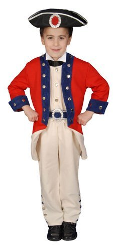 Deluxe Historical Colonial Soldier Costume Set - Large 12-14 by Dress Up - Colonial America Kostüm Kinder