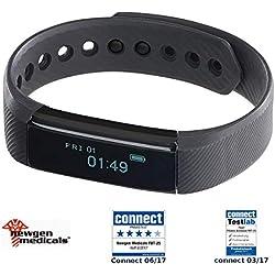 newgen medicals Fitarmband: Fitness-Armband FBT-25, Bluetooth, Benachrichtigungen, OLED, IP67 (Fitnessarmband mit Nachrichten)