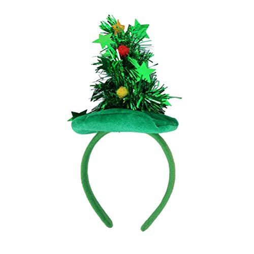 m Haarband Weihnachten Kopfschmuck Party bevorzugt Foto Requisiten für Kinder grün ()