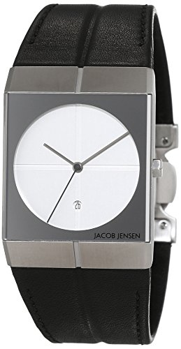 Jacob Jensen Orologio da polso unisex Icon, analogico, al quarzo, in pelle, Jacob Jensen 232