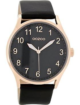 Oozoo Damenuhr mit Lederband Schwarz C8644