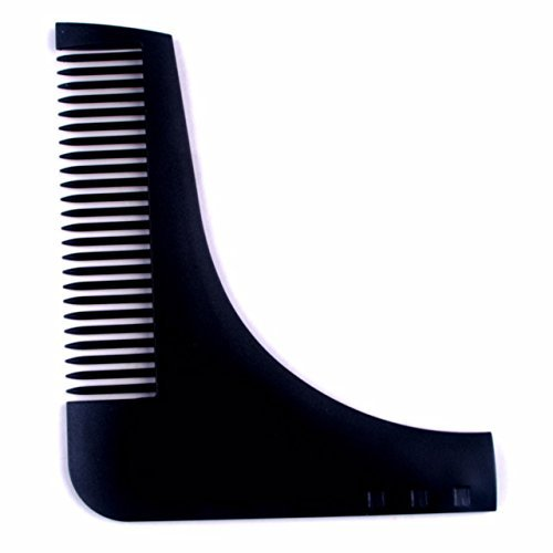 Beard Comb and Shaping TemplateTool / Beard Comb For Men (Black)