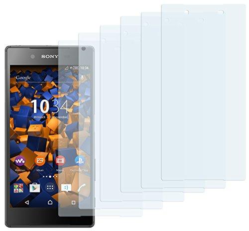 mumbi Schutzfolie kompatibel mit Sony Xperia Z5 Folie klar, Displayschutzfolie (6x)