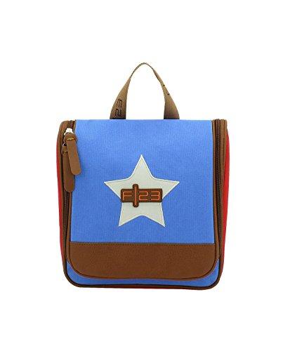 F|23, Urban Survival Kulturtasche, BxTxH: 24x8x27 cm, Zum Aufhängen, 5 Liter, Star, Blau/Rot, 30024-5