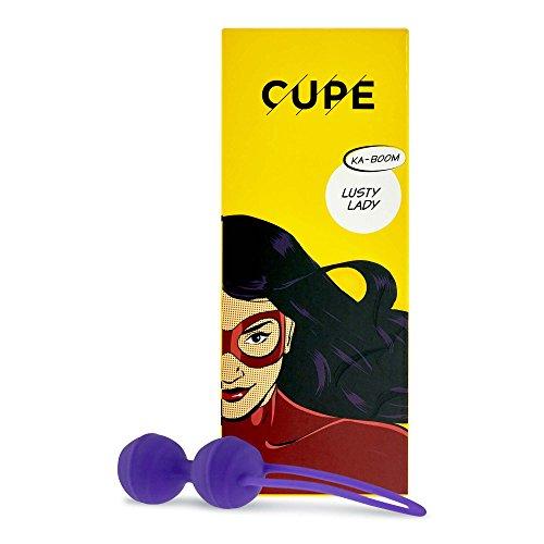 BOLAS CHINAS Orgásmicas 'LUSTY LADY' de CUPE, bolas vaginales suave como la seda de silicona, para fortalecer tu musculatura pélvica, Ø 32 mm, 2 x 40 g, en un embal