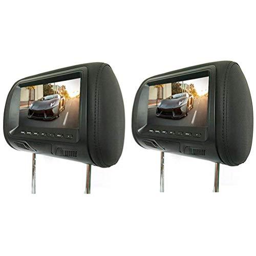 oll-Kopfstütze Auto DVD hinten montiert AV-Player Monitore FM LCD-Display Sender HD Car Display 2-TLG,Black ()