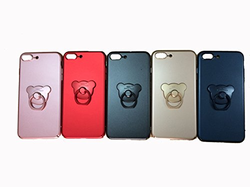 Aiqaa iPhone 7 Plus Caso con 360 Rotante Anello Titolare Kickstan Supporto per iPhone 7 Plus (Rosa) Blu,Nuovo