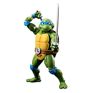 Bandai Tamashii Nations BTN06450-3 - Teenage Mutant Ninja Turtles S.H. Figuarts Leonardo Tamashii Web Exclusive Actionfigur, 15 cm