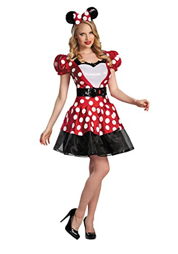 Mickey Mouse Clubhouse Disney Glam Red Minnie Mouse Adult Costume 12-14