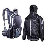 For.Bicy Herren Rucksack Und Jacke JACPACK M, Black/Castelrock, XL, O101075