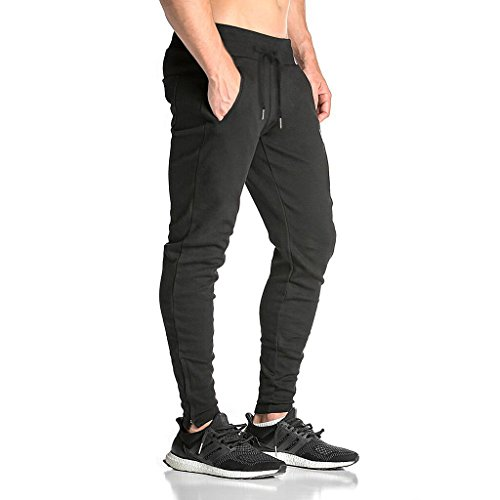 BROKIG Mens Zip Gym Joggers Swea...