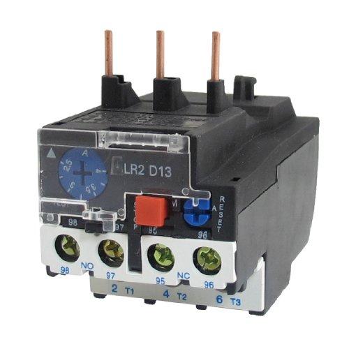 uxcell® AC 660V 2.5-4A 3polacos NO/NC eléctrico sobrecarga térmica Relay LR2-13