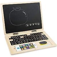 Small Foot 11193 Holz-Laptop Tafel, animiert Kinder zum Ersten Schreiben und Rechnen, inkl. Magnet-Tastatur, Tafelkreide, Schwamm und Handy, Das Lernspielzeug ist perfekt für Schulstarter geeignet Spielzeug, Mehrfarbig preisvergleich bei kleinkindspielzeugpreise.eu