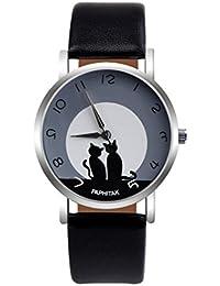 De la Mujer Relojes, kingwo reloj de pulsera para hombre para mujer diseño de gato