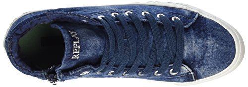 Replay Wetley, Chaussons montants femme Bleu Marine