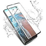 HITFIT Tempered Glass Screen Protector Full Glue Edge to Edge Fit 9H Hardness Bubble Free Anti-Scratch Crystal Clarity 6D Curved Screen Guard for Samsung Galaxy S10 Plus - Black