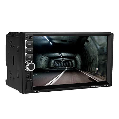 Lazmin MP5-7036UM 2 Din Digital Autoradio Stereo MP5-Player, 7-Zoll-Bluetooth-Freisprech-Auto-Multimedia mit Touchscreen Digital Video Interconnect