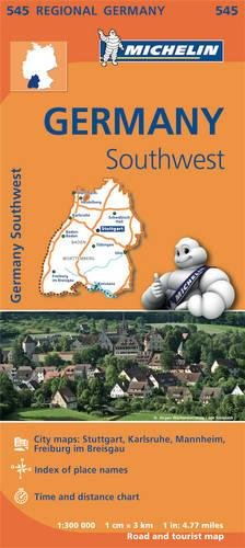 Mapa Regional Germany Southwest por MICHELIN