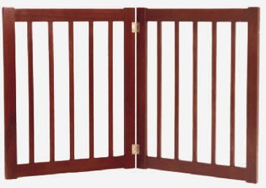 Dynamic Accents 2 Panel 27'' Free Standing EZ Gate - Mahogany by Dynamic  Accents