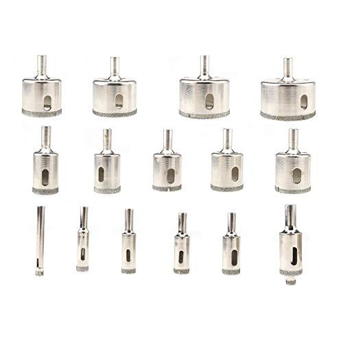 ENET 16Diamant Cutter, 6-50mm Metall Lochsäge Bohrer Werkzeug-Set für Glas/Keramik/Fliesen -