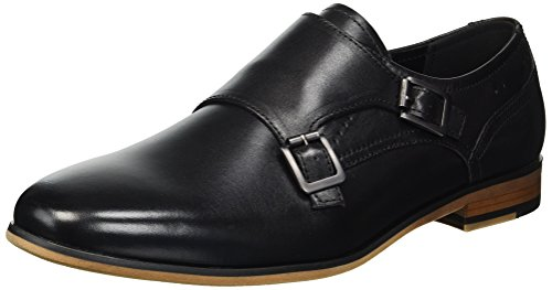 Kenneth Cole REACTION Herren Guy Monk Oxfords, Schwarz (Black 001), 43 EU - Madden Oxford Steve