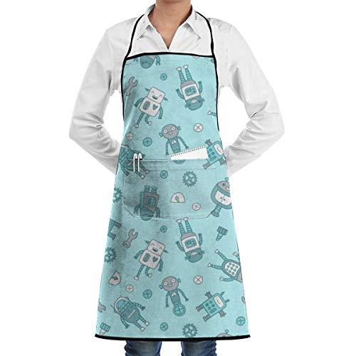 HYUS Roboter-Muster-Kuchen-Schutzblech fur Manner und Frauen BBQ, die Grill-Schutzbleche Grillen
