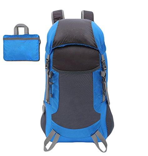Leichte Faltbare Taschen Outdoor-Sport-Bergsteigen Taschen-,Black Blue