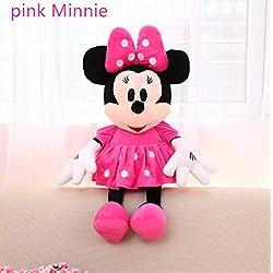 hhjxptst Peluche, Souris Mickey Mouse, Souris Minnie, Dessin Animé De Film 70cm Minnie Rose