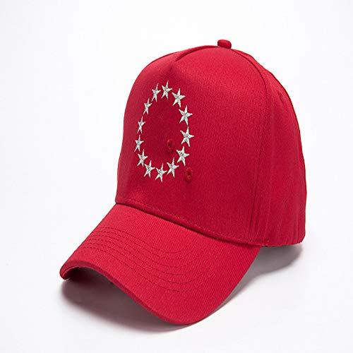 Moda Bordado Estrella de Cinco Puntas Gorra de béisbol Hombres y Mujeres...