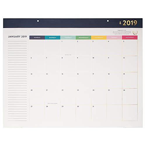 Emily Ley Monatliche Schreibtischunterlage Kalender, Januar 2019–Dezember 2019, Standard Größe (EL100Motorrad 704)