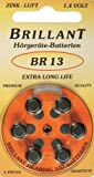 60x Brillant BR13 Hörgerätebatterien