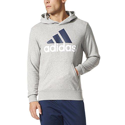 adidas Men s Essential Linear Logo Pull Over Hoodie Medium Grey Heather XX-Large