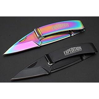 2x der Silber Clipper Brieföffner Taschenmesser Folding Knife