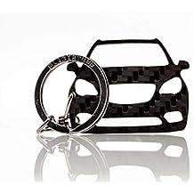 BlackStuff Llavero De Fibra de Carbono Cadena De Claves Compatible con Opel Mokka BS-796