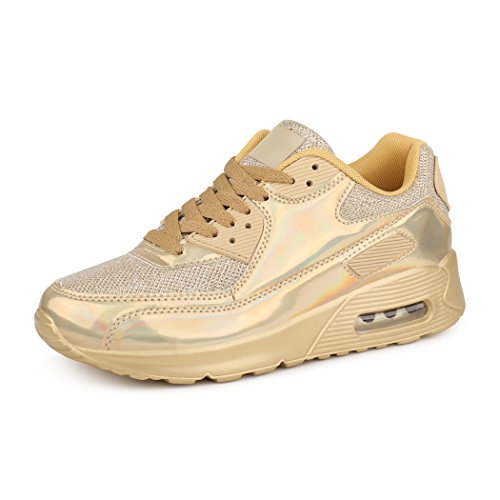 Brilhantes botas Sapatilha Calça Unissex Correndo Ouro Mulheres Sapatilhas Homens As Best aUwx4qx