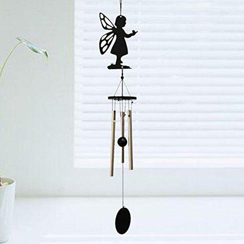 FADDR Metall-Windspiel-Glocke, entspannende Mini-Hängerohre-Windspiel-Töne, Innen-Innen-Außen Grace Sympathy Wind Chime(Engel)