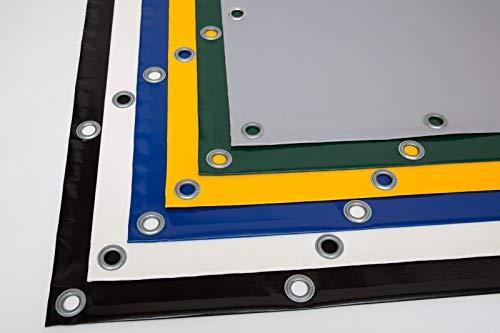 (720g/m²) LKW Plane, PVC Plane mit 12mm Ösen, verschiedene Farben, OHNE SAUM (2,5m x 5m, Grün RAL6005)