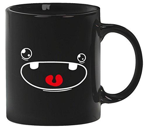 Kostüm Kaffeetasse Kaffeebecher Cute Monster, Größe: onesize,Schwarz (Cute Freund Freundin Halloween Kostüme)