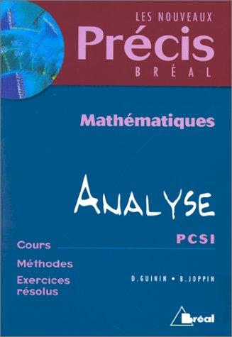 Mathématiques, tome 4 : Analyse, PCSI