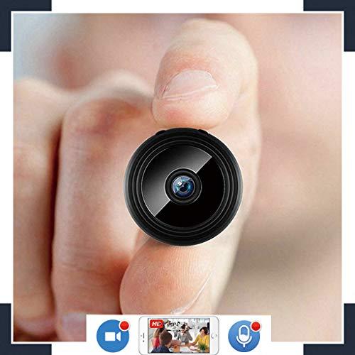 Mini WLAN Kamera,mit Akku und150° Weitwinkel Objektiv Mobile Full HD Nachtsicht und Audio zur schnellen Überwachung Kleine Überwachungskamera Live Stream weltweitem Zugriff per Gratis-App und PC (Kamera Live-stream)