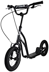 Idea Regalo - Stiga STR Air Kickscooter, 12 Pollici, Nero, Taglia Unica